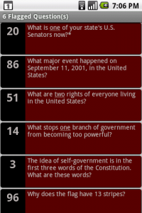 Flagged Questions