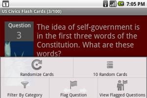 Flash Card Options Menu